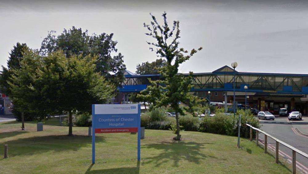 Entrada del hospital de Chester, en Reino Unido