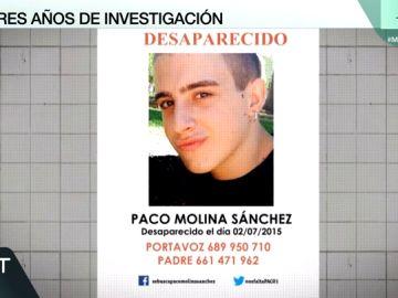 Paco Molina, desaparecido desde hace tres años.
