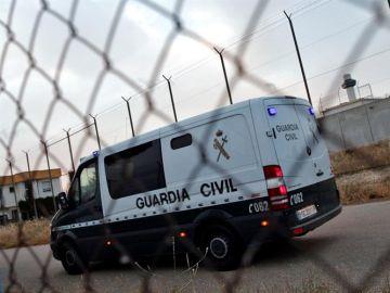 Un furgón de la Guardia Civil en un traslado de presos