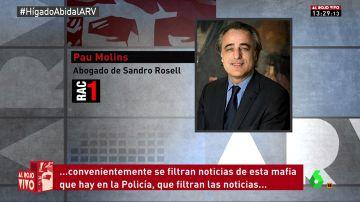 Pau Molins, abogado de Sandro Rosell
