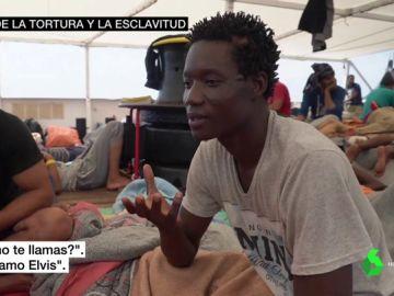 Elvis, uno de los migrantes del Open Arms