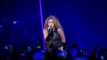 La cantante Shakira durante el concierto en Madrid