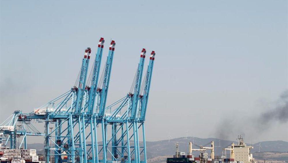 Terminales de contenedores del Puerto de Algeciras (Cádiz)