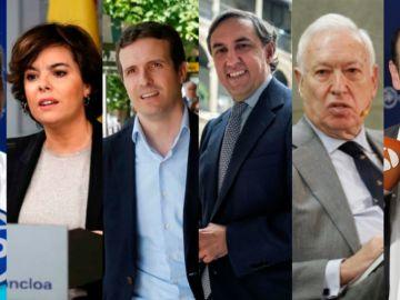 Los candidatos a la presidencia del PP terminan una campaña muy abierta con Santamaría, Cospedal y Casado como favoritos
