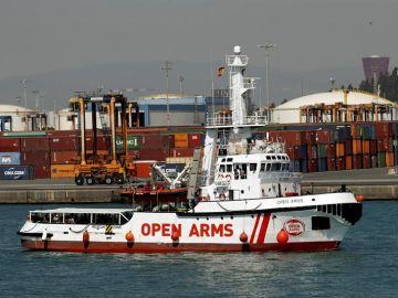 Llegada del Open Arms