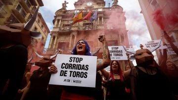 Protestas antitaurinas en Pamplona
