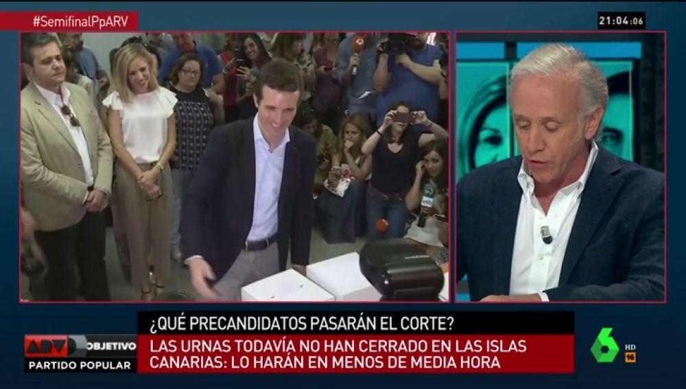 """Eduardo Inda analiza en ARV las cifras de apoyo a Pablo Casado en Madrid: """"Está arrasando"""""""