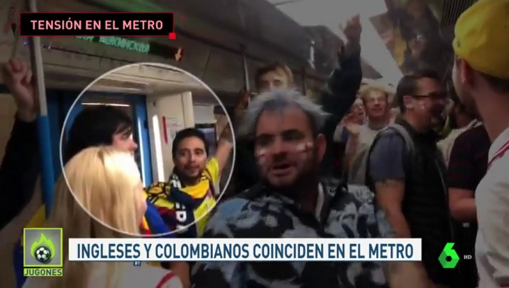 Pelea entre ingleses y colombianos