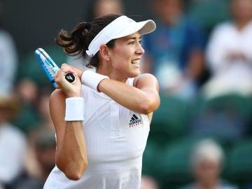 Muguruza, durante su partido de Wimbledon