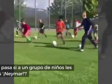 ¿Qué pasa si a un grupo de niños se les grita '¡Neymar!'?