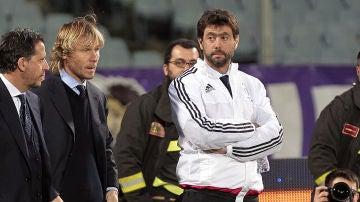 Andrea Agnelli, durante un partido de la Juventus