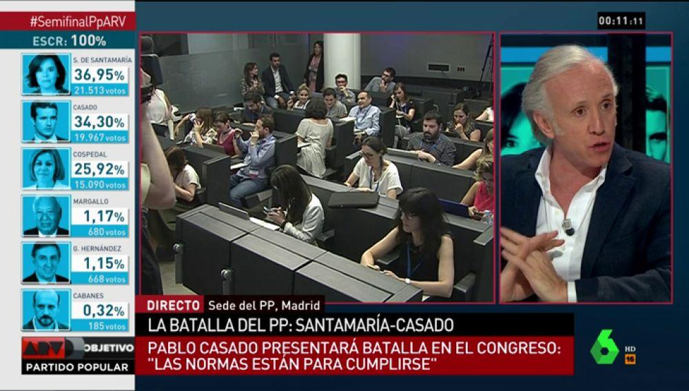 """Eduardo Inda: """"Los 'cospedalistas' ya han recibido la orden de Cospedal de votar a Casado en el Congreso del PP"""""""