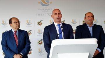 Pepe Castro, Luis Rubiales y Óscar Grau comparecen ante los medios