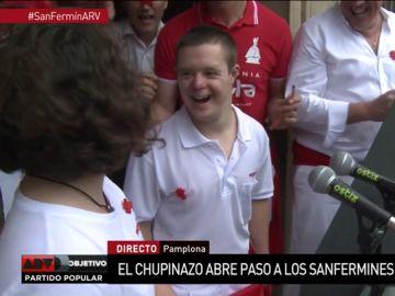Ibai y Leire lanzan el chupinazo que da comienzo a San Fermín