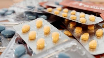 Vista de varios medicamentos