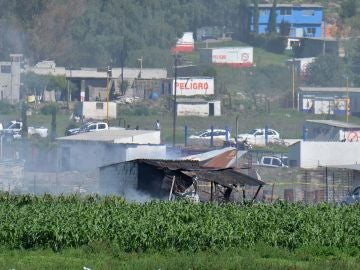 Explosiones de un taller de pirotecnia de México