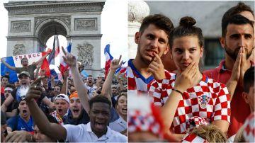 París y Zagreb, cara y cruz de la final del Mundial