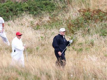 Donald Trump en su campo de golf