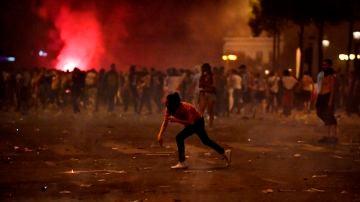 Disturbios en París durante la celebración de la victoria de Francia en el Mundial