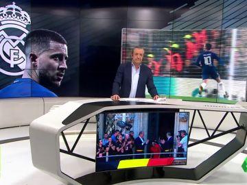 Hazard lanza un guiño al Real Madrid