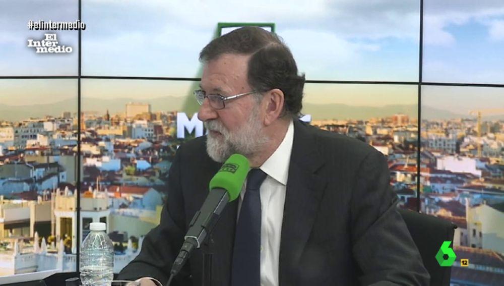 Mariano Rajoy en un programa de radio