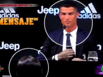 """Zapeando 'desvela' """"en exclusiva la conversación de Whatsapp de Cristiano Ronaldo con Georgina"""" durante su presentación con la Juventus"""