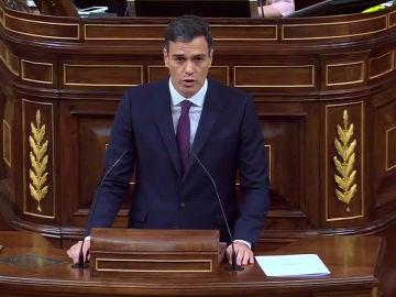 Pedro Sánchez comparece en el Congreso