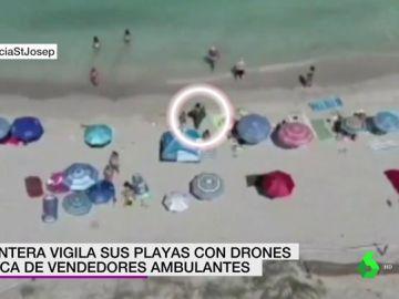 Drones en la playa de Formentera