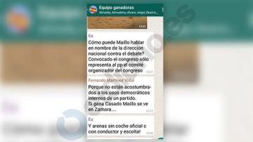 Mensajes de WhatsApp de Esperanza Aguirre