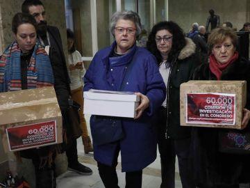 La presidenta de la asociación de las víctimas del vuelo de Spanair, Pilar Vera.