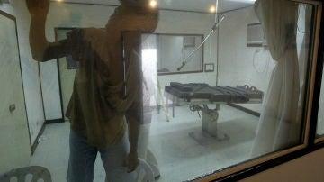 Preso en una sala de ejecuciones