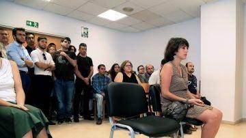 Juana Rivas declarando en los juzgados de Granada