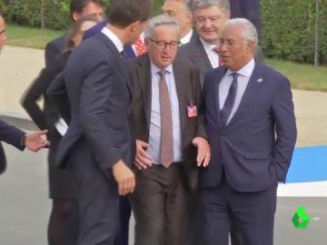 Juncker en la cumbre de la OTAN