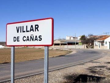 Entrada al municipio de Villar de Cañas, Cuenca