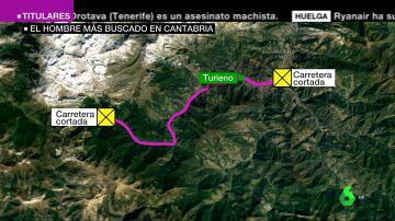 VÍDEO REEMPLAZO   La Guardia Civil cree que el huido de Turieno puede ir armado y pide no acercarse a la zona