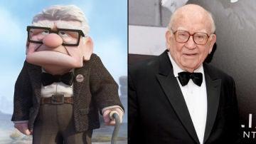 Ed Asner y su personaje en 'Up'