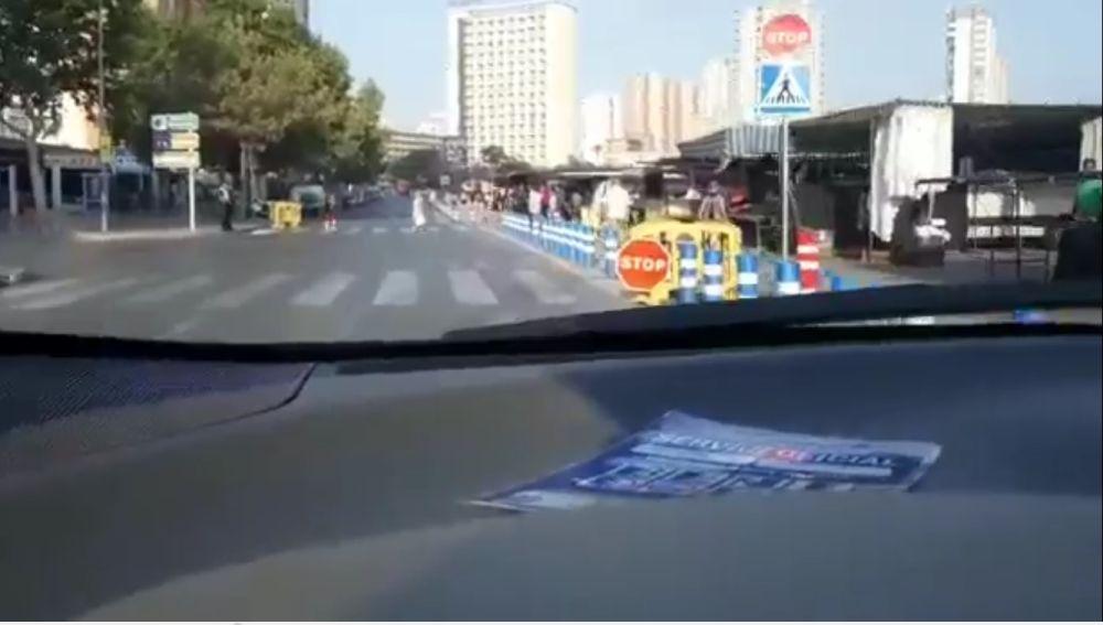 El portavoz de Ciudadanos en Benidorm se graba saltándose un stop