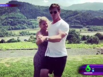 """El divertido baile de Elsa Pataky y Chris Hemsworth dándolo todo al ritmo de Despacito: """"Puede que alguien vaya un poquito 'T(h)or-cido'"""""""