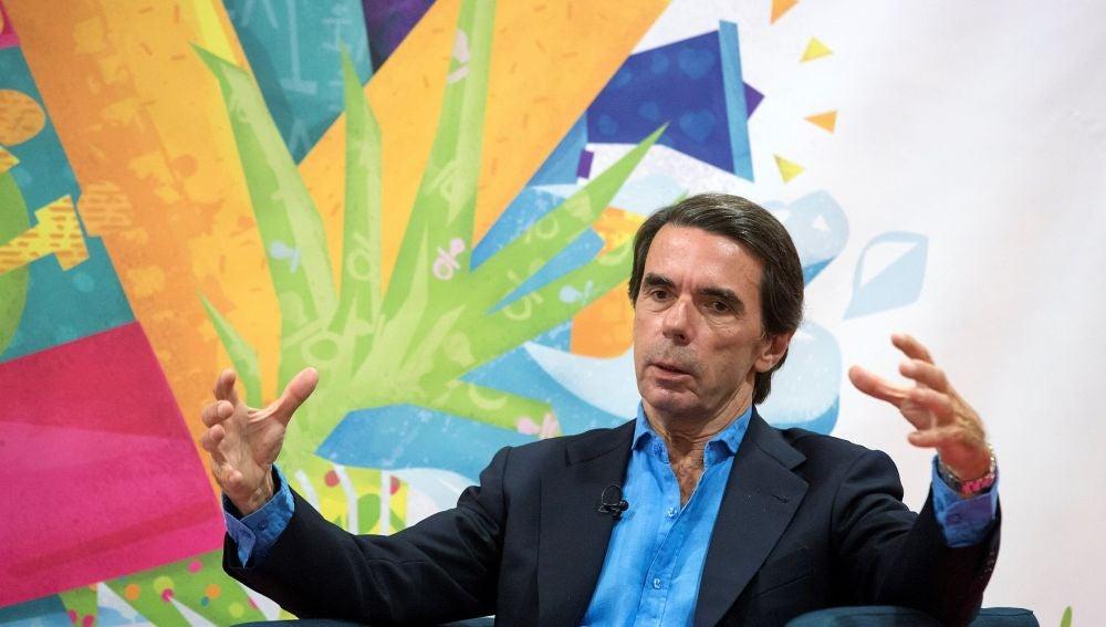 El expresidente José María Aznar