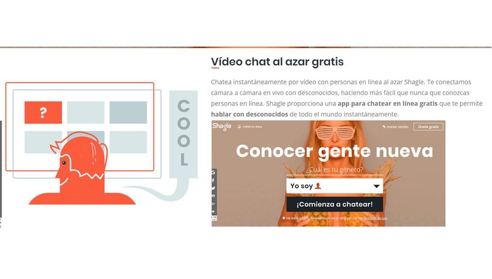 Web de servicio de Chatroulette