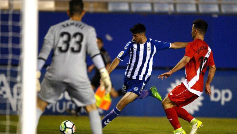 El Lorca, durante un partido de la pasada temporada