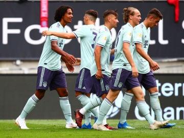 El Bayern de Múnich celebra un gol