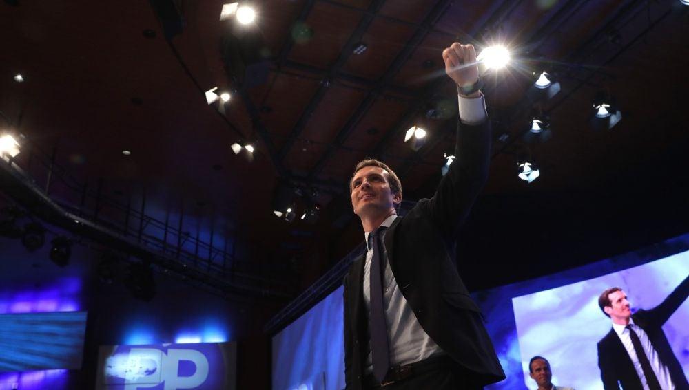 Pablo Casado tras su discurso en el congreso del PP
