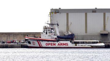 Vista del barco de la Organización de Salvamento Open Arms