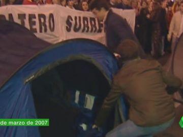 De las 'acampadas protesta' a ser el nuevo líder del PP: así ha sido el ascenso meteórico de Casado en el partido