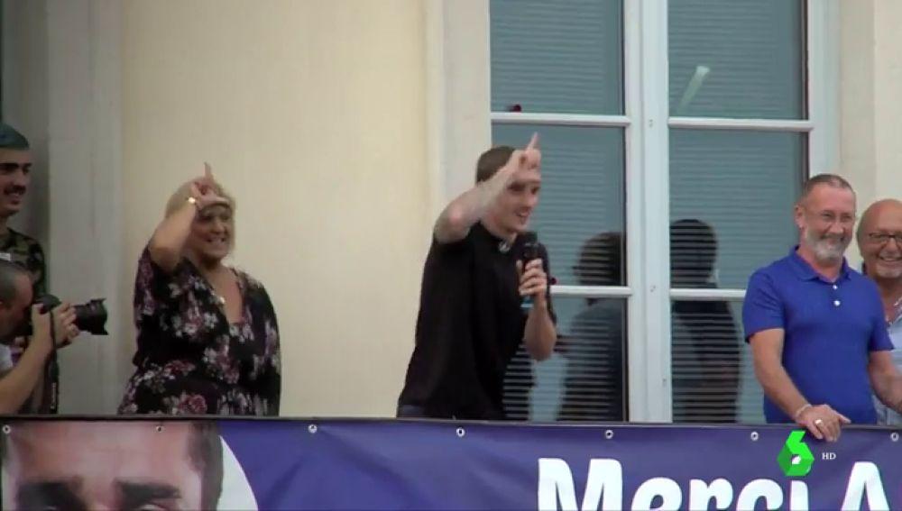 Griezmann celebra por todo lo alto el triunfo del Mundial en su Macon natal