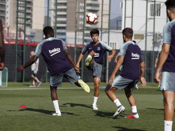 El Barça cierra la primera semana de entrenamientos