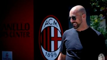 Pepe Reina, con el Milan