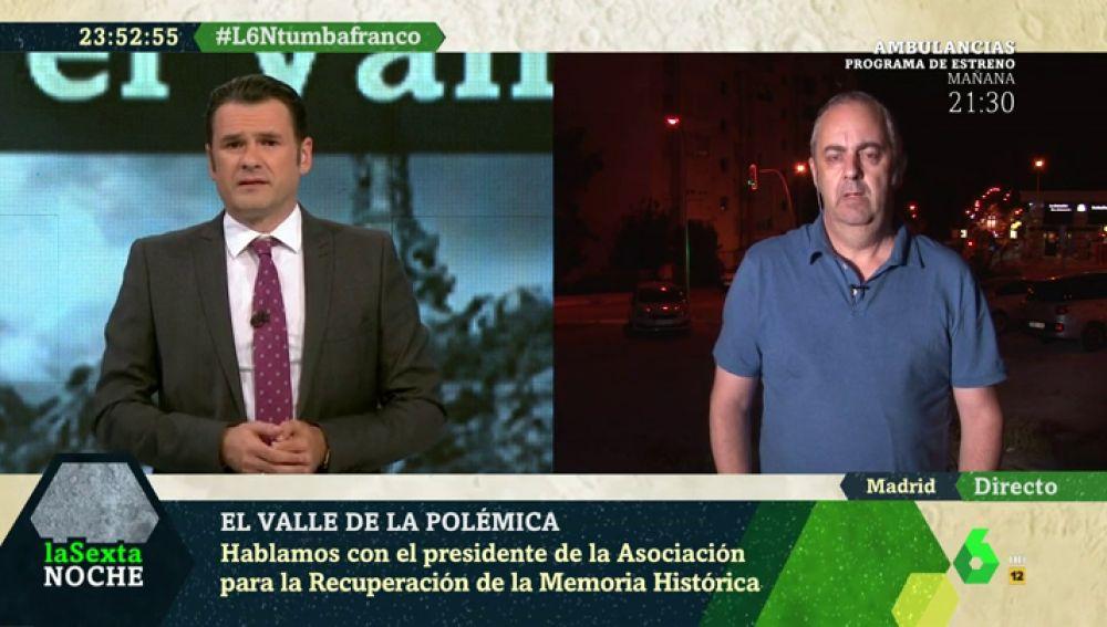 """La denuncia de Emilio Silva: """"Nos han vendido que el Valle de los Caídos era un monumento para los caídos de la guerra"""""""