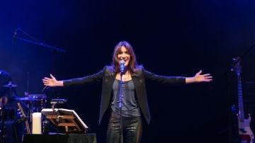 Fotografía facilitada por la organización de la cantante francesa Carla Bruni